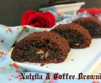 Eggless Nutella and Coffee Brownies