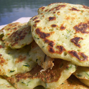 Blinis aux courgettes (0,5 PP)