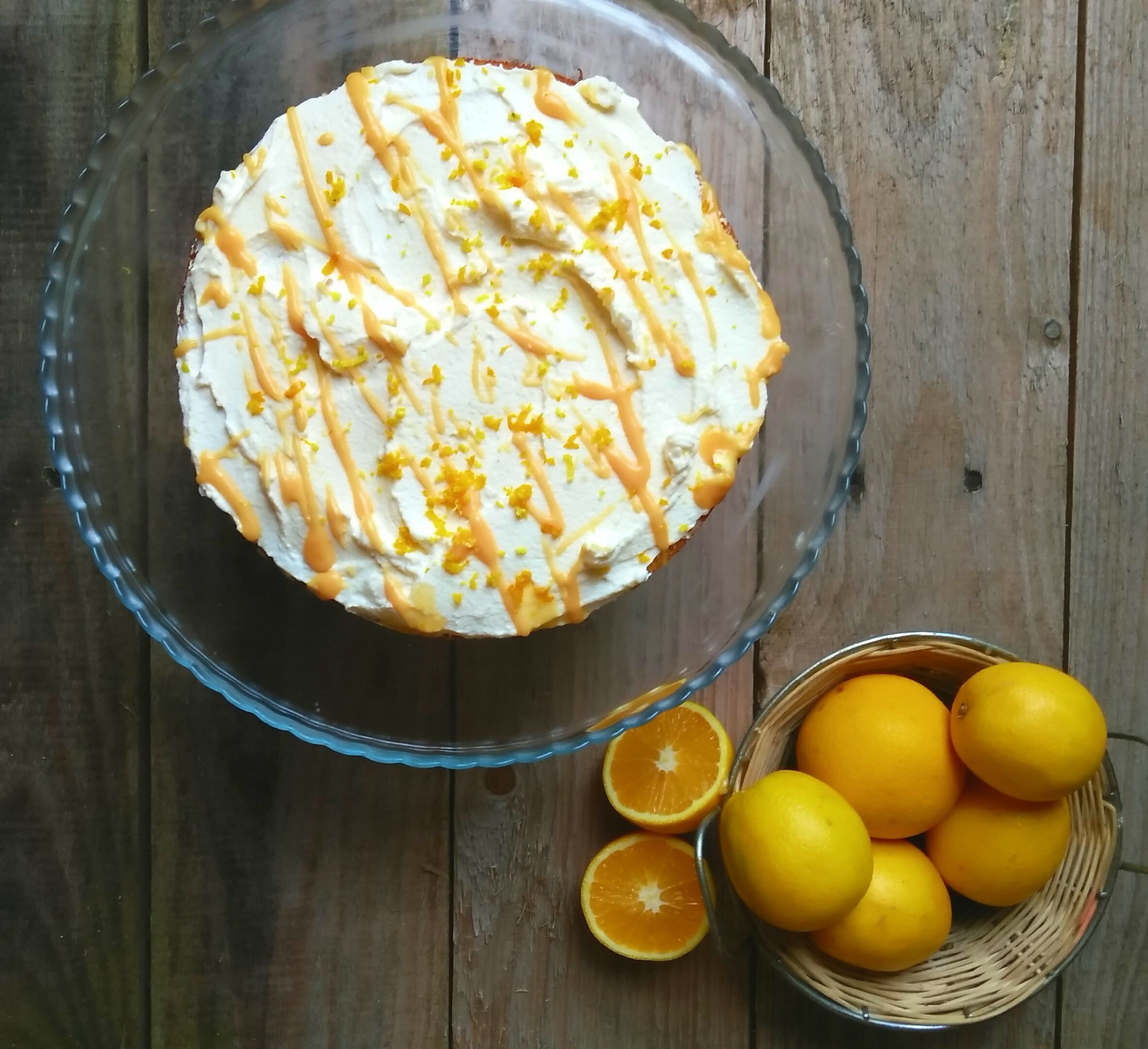 Orange Cake with zesty Cream Frosting