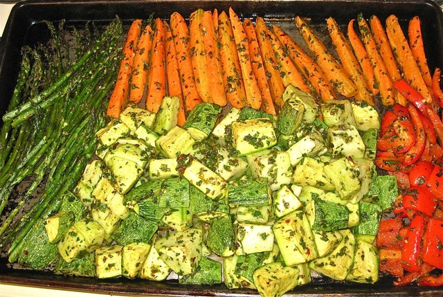 Roasted Vegetables with Chimichurri