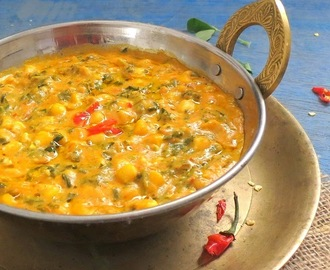 Methi Corn Malai, Fenugreek and Corn Curry