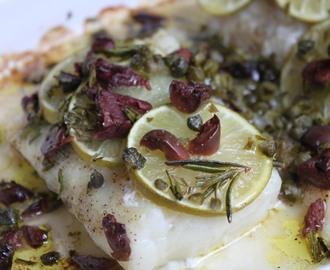 Marcela Valladolid's Baked Cod with Olives and Limes