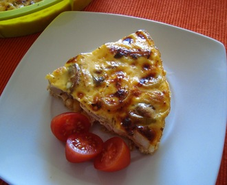 Quiche de frango e alho-francês light