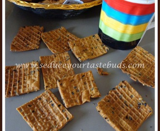 Whole Wheat Sesame Crackers | Guilt Free Snack