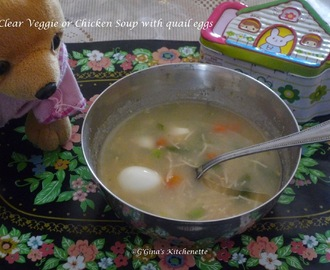 Kids' Special #3 - Clear Vermicelli veggie or chicken soup with quail eggs