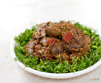 Chicken liver pepper fry