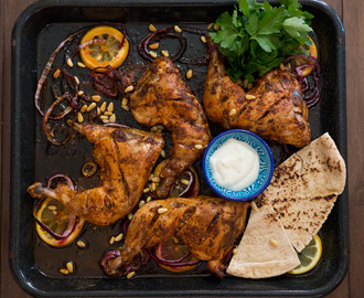 Middle Eastern Roast Chicken with Toum