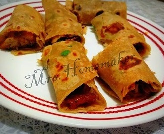 Munchurian Frankie ( Chapathi/ Roti wrap up )