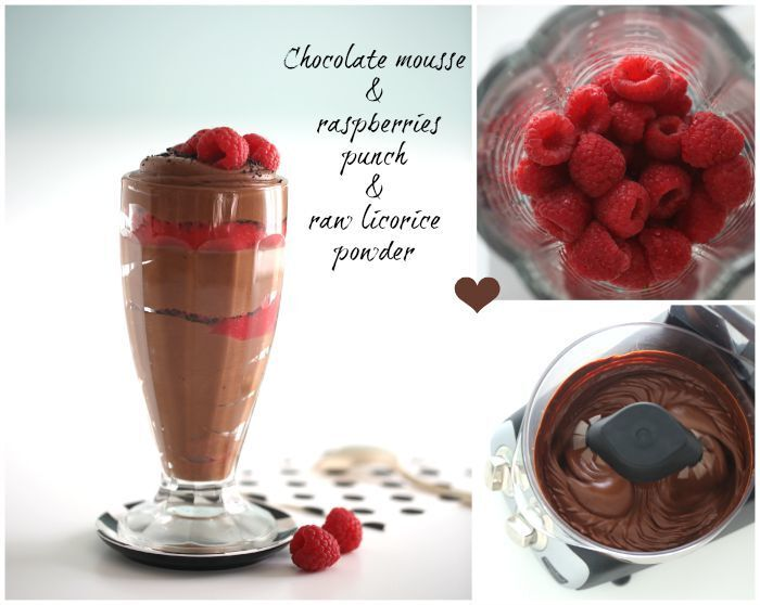 Silky smooth chocolate mousse & raspberry punch