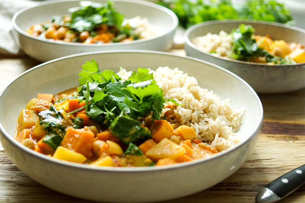 Coconut Chickpea Curry with Sweet Potato