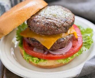 Grilled Butter Burgers #SundaySupper