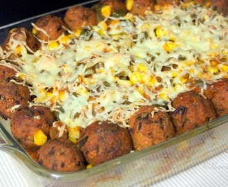Mexican Rice with Cheese Balls