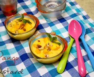 Mango Custard | How to make Creamy Mango Custard