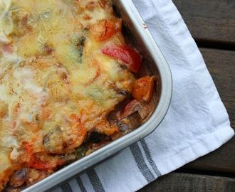 Meat Free Monday - Vegetarlasagne med linser og cottage cheese