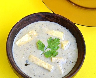 White Paneer Korma Recipe-Paneer kurma-Paneer Recipes