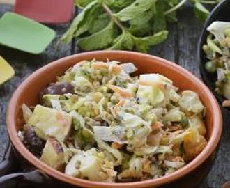 Mixed Sprouts Fruits and Veggie Salad 