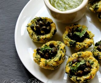 Steamed Lentil Fenugreek Baskets With Green Chickpea Salad