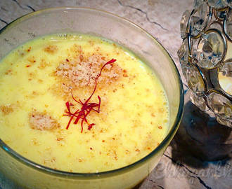 Kesar Badam Milk/ Almond and Saffron milk