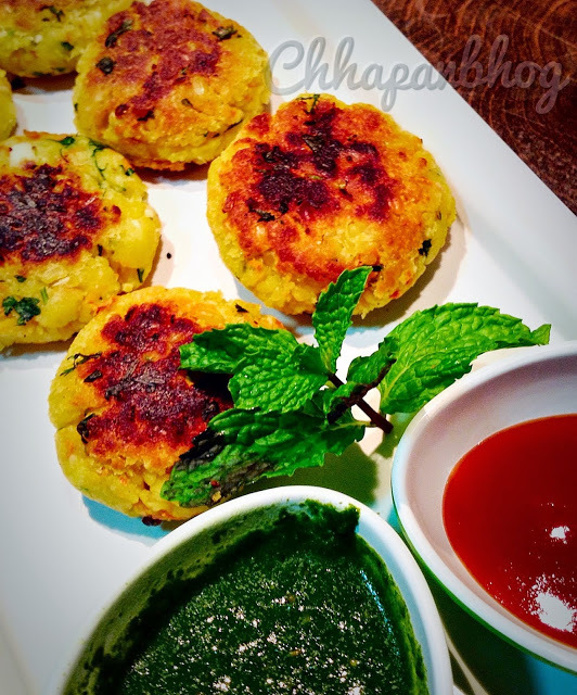 Moong Dal and Oats Falafels/ Lentil and Oats Falafels