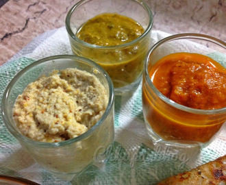 3 different South Indian style Chutneys