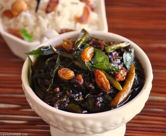 Green Chili Pulinkari – Tamarind Chili and Raisin Chutney