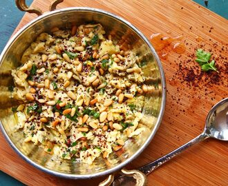 Scrambled Eggs With Sumac, Pine Nuts, and Parsley Recipe