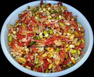 SPROUTS ANI METHI CHI KOSHIMBIR / SPROUTS AND FENUGREEK SEED SALAD