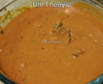Ulli Theeyal/Pearl Onions in a Roasted coconut Gravy