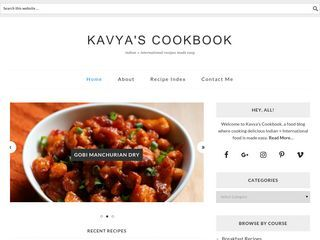 Kavya's Cookbook