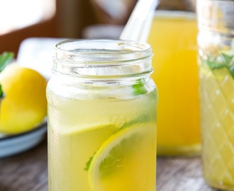 Iced Green Tea with Mint & Ginger