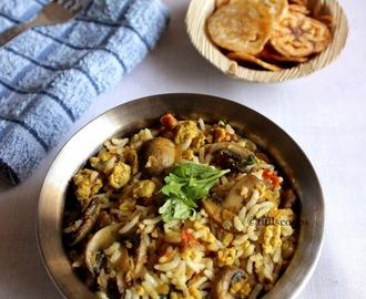 Mushroom and Egg Rice | Easy Lunch Box Recipes