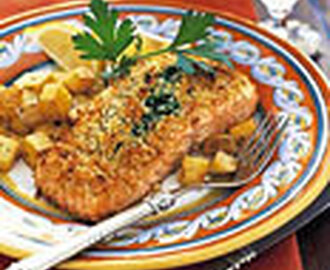 Baked Salmon Stuffed with Mascarpone Spinach