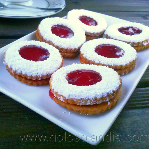 Galletas con mermelada