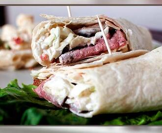 Wraps med roastbeef