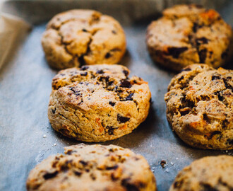 Sweet Potato Scones w/ Chocolate Chips