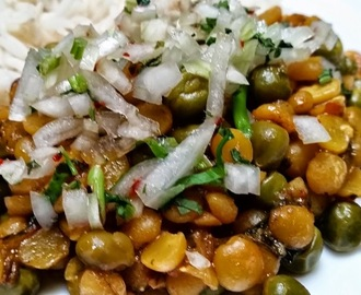 Channa dal Chat – split chick pea dry curry – curry sec de lentilles de pois chiche