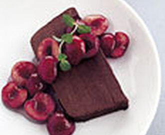 Bittersweet Chocolate Marquise with Cherry Sauce