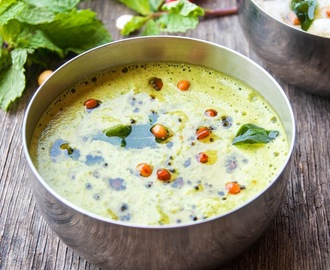 Mint Chutney / Pudina Chutney for South Indian Breakfast