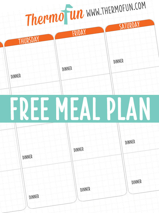 THERMOFUN FREE OCTOBER 2018 MEAL PLAN