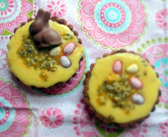Easter Tartelettes, filled with Lemon Custard and Passionfruit