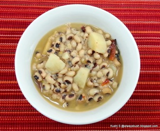 BLACK EYED PEAS AND POTATO SOUP - INDIAN STYLE
