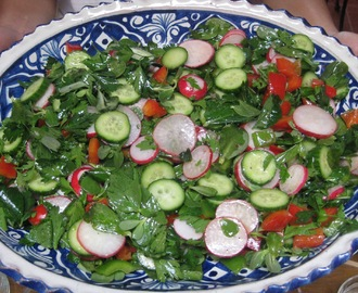 Middle Eastern Salad with Allspice Vinaigrette
