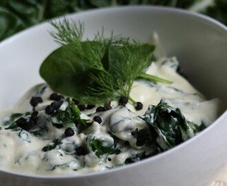 Creamed spinach with Parmesan and nutmeg