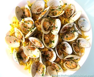 Dining with the Doc: Quinoa Linguine with Clams and Lemony Breadcrumbs