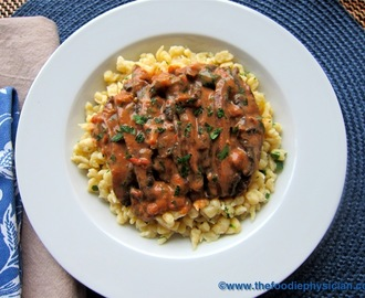Dining with the Doc: Portobello Paprikash with Spaetzle