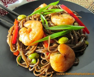 Dining with the Doc: Hoisin Shrimp and Edamame Stir-Fry with Soba Noodles