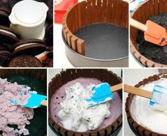 Receta de tarta de chocolate Kit Kat