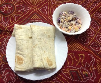 Chicken Coleslaw Wraps