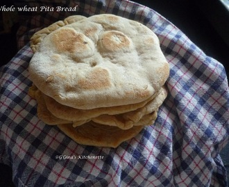 Whole Wheat Pita Bread #BreadBakers