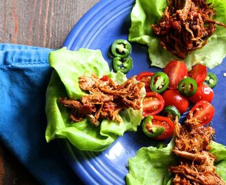 Pulled Pork Lettuce Wraps with Homemade BBQ Sauce